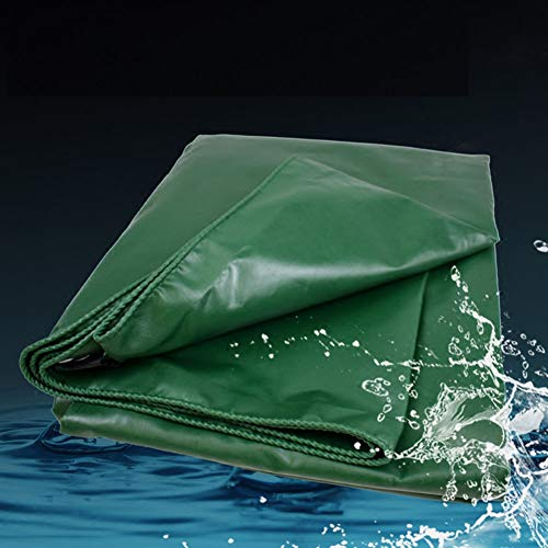 Heavy Duty Tarpaulin High Density Woven PVC and Double Laminated 500g/m² Green Waterproof and UV Protected (Size : 2×3m) by Tarps (Image #1)