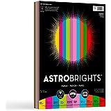 "WAUSAU 20008 Astrobrights Color Paper, 8.5"" x 11"", 24 lb / 89 gsm, ""Charisma"" 10-Color Assortment, 200 Sheets"