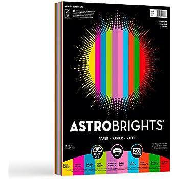 """Astrobrights Color Paper, 8.5"""" x 11"""", 24 lb / 89 gsm, """"Charisma"""" 10-Color Assortment, 200 Sheets"""