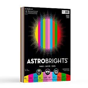 "WAUSAU 20008 Astrobrights Color Paper, 8.5"" x 11"", 24 lb/89 gsm, ""Charisma"" 10-Color Assortment, 200 Sheets"