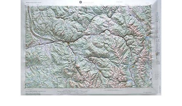 Amazon Com Leadville Regional Raised Relief Map In The