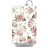 Pink Roses Polyester Fabric Bathroom Shower Curtain 48*72Inch