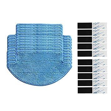 Louu 20pcs/lot, Robot Parts Aspirador Mop Pads para Xiaomi Mi Parts kits (mopas Panos * 10+ magic paste * 10): Amazon.es: Hogar