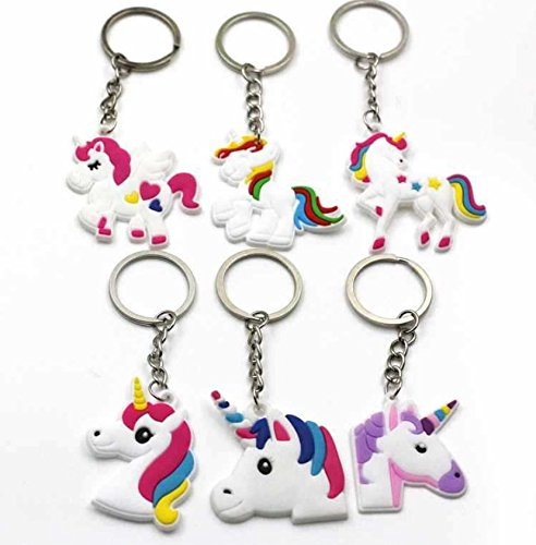 Astra Gourmet Unicorn Party Supplies - Unicorn Bracelets Wristband Unicorn keychains and Rings, Unicorn Birthday Party Favors for Kids Girls, Pony Toys Prizes Gifts, Rubber Band Bracelet (36 Pack)