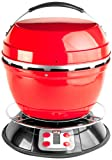 12 volt fry pan - Cook-Air EP-3620RD Wood Fired Portable Grill, Red