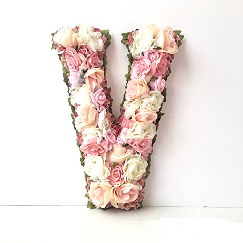 Floral Letter (Large Flower Letter, Custom Letters for Wall, Your Choice of Floral Colors, 13.5