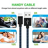 Type-C-Cable-MCUK-3-Pack-3Ft-6Ft-10Ft-Nylon-Braided-Fast-Charging-Cord-for-Samsung-Galaxy-S8S8-Nexus-6P5X-LG-G6-Oneplus-3-Macbook-Pixel-Nintendo-Switch-and-More-3ft6ft10ftBlueBlack