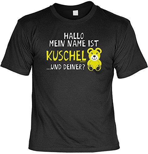 T-Shirt - Mein Name ist Kuschel und Deiner - Teddy - lustiges Sprüche Shirt als Geschenk für Verliebte mit Humor