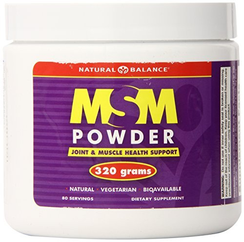 Natural Balance MSM, Unflavored, Powder, 320 Grams by Natural Balance (Msm Balance Powder Natural)