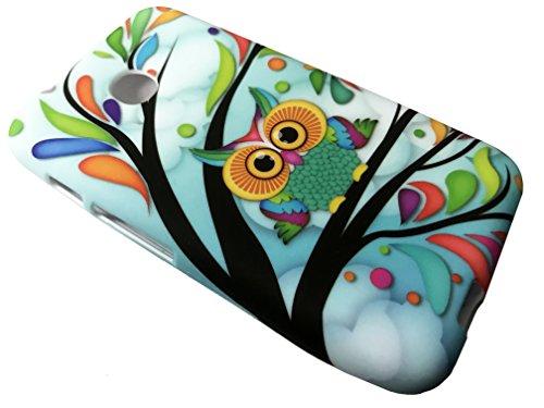 For TracFone Alcatel Pixi Unite A466BG Soft Flexi TPU Skin Protective Case Phone Cover + Gift Stand (TPU Owl)