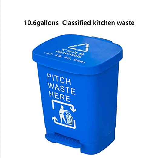 Xiaoli-Trash Cans Papelera de Basura de plástico para ...