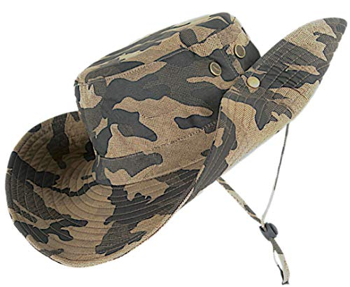 - kolumb Unisex Military Boonie Hat- Premium Soft Cotton & Polyester Fabric, Sturdy Stitching Wide Brimmed Mens & Womens Boonie Hat- Top Camo Bucket Hat in Attractive Colors for Sports Fishing Beach ...