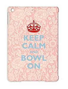 Match Skittles Sport Balls Sports Miscellaneous Strike Play Bowling Player Keep Calm And Bowl On TPU Navy For Ipad Air Protective Hard Case