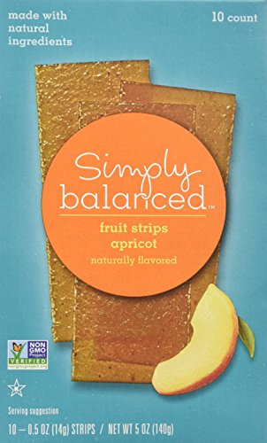 Simply Balanced Natural Apricot Fruit Strips (10 Count) - 2 Pack ()