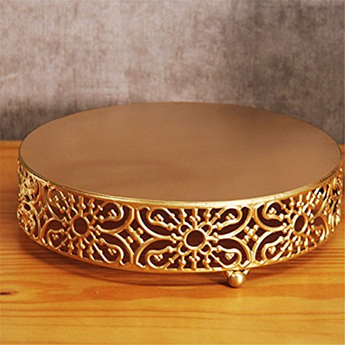 12 Pcs/set Golden Cake Stands and Pastry Trays,Metal Birdcage Cupcake Dessert Pedestal/Display/Plate/Stands and Trays with Crystals and Beads,Party Birthday Party Wedding Decorations for Tables by Gooday (Image #4)