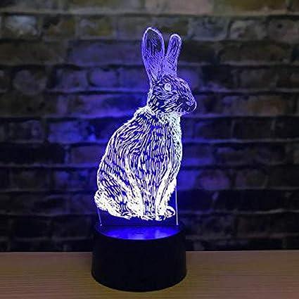 Lámpara de mesa del ratón del zodíaco doce Tigre conejo dragón serpiente 3D Led caballo oveja mono pollo perro cerdo 3D luz de noche regalo para niños
