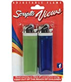 Scripto Views Adjustable Lighters, 2-ct. Packs