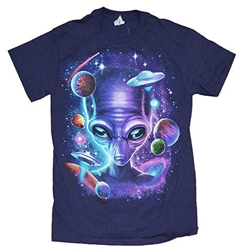 Alien in Space BlackBerry Heather Graphic T-Shirt - 3XL