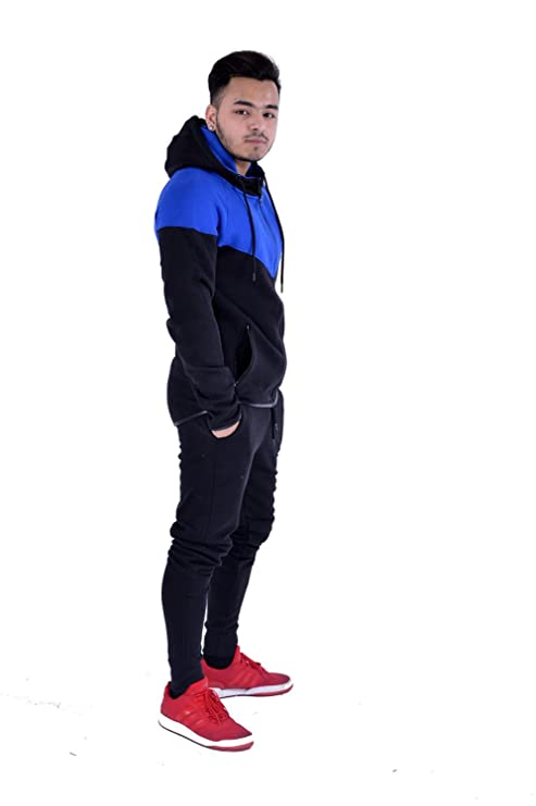 My Mix Trendz Kids Contrast Cord Fleece Full Zip Up Kids Tracksuit Hoodie Gym Suit Jogging Joggers