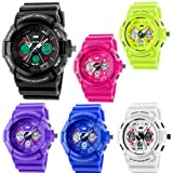 Unisex Fashion Sport Watch Analog/Digital Water Resist Dual Time Multifunction Alarm Led Wristwatch 0966