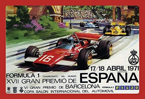 DYTrade Formula 1 Grand Prix España 1971 Vintage Look Custom Metal ...