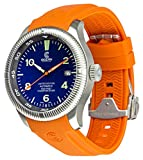 Ocean Crawler Champion Diver Automatic Watch, Limited Blue Dial, Rubber Strap And Premium Leather Band.