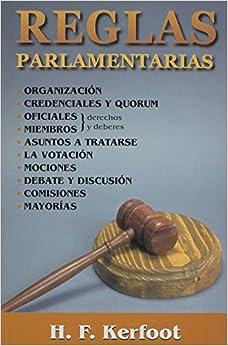 Book Reglas Parlamentarias (Spanish Edition)