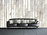 1Wall White Wash Wood Wall Mural
