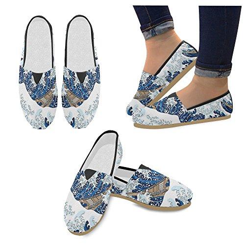 D-story Mode Sneakers Lägenheter Kvinna Klassisk Slip-on Tygskor Loafers Våg