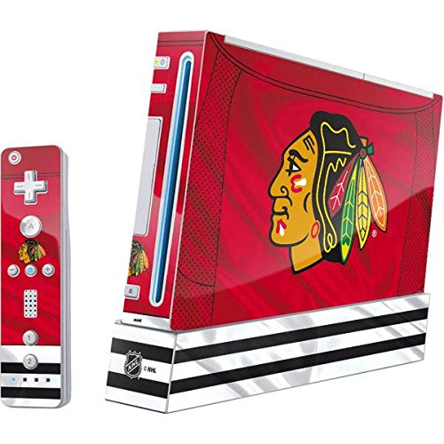 Skinit Blackhawks Red Stripes Wii (Includes 1 Controller) Skin - Officially Licensed NHL Gaming Decal - Ultra Thin, Lightweight Vinyl Decal Protection (Best Nhl Game For Wii)