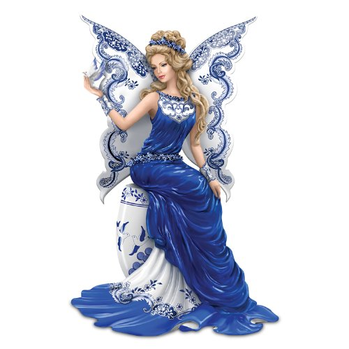 - The Hamilton Collection Figurine: Magical Blessing of Two Lovers Blue Willow Artwork Figurine