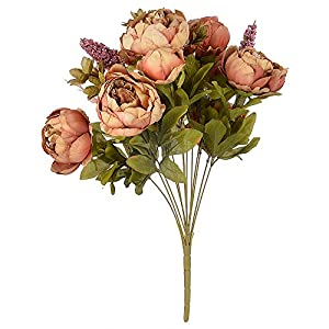 LingStar Artificial Fake Peony Silk Flowers Bouquet for Decoration in Vase Wedding Decoration 15
