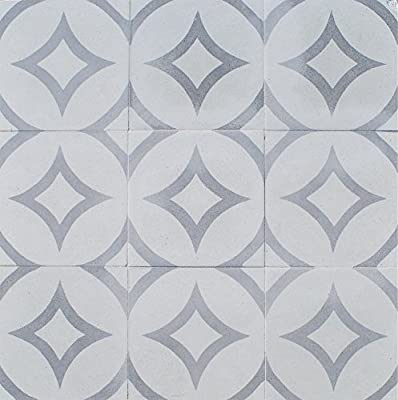 Luna Gray Encaustic 8x8 Honed Finish Cement Tile Floor