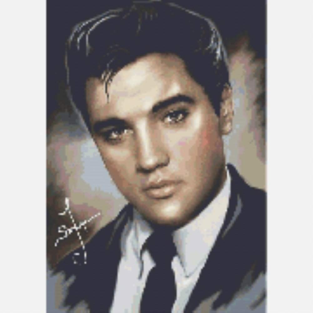 DIY 5D Diamond Painting by Number Kits,Crystal Rhinestone Diamond Embroidery Paintings Pictures Arts Craft for Home Wall Decor,Full Drill,Elvis Presley