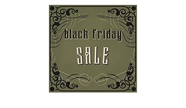 Basic Black Window Cling for Sale 5-Pack 36x12 CGSignLab