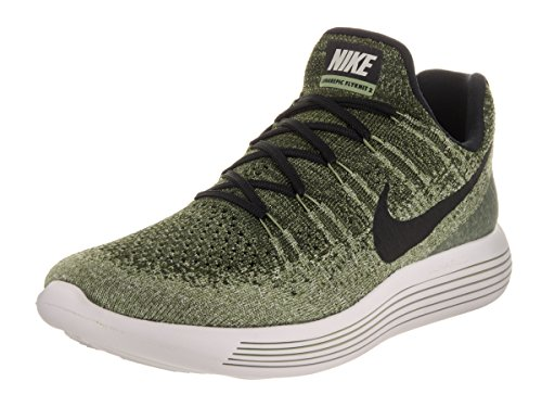 Nike Men's Lunarepic Low Flyknit 2 Rough Green/Black/Palm Green Running Shoe 10 Men US VQS63HPwLI