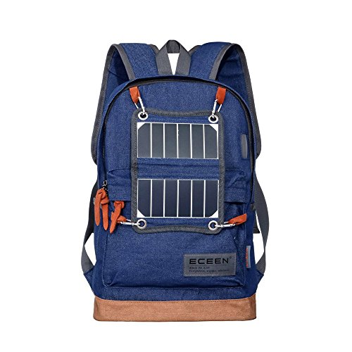 ECEEN-Hiking-Daypack-Lightweight-Backpack-with-Solar-Charger-and-LED-Camping-Light-for-Hiking-Blackouts-Camp-out-Rechargeable-Power-Bank-for-iPhone-Samsung-Galaxy-More-Other-5V-USB-Charged-Devices