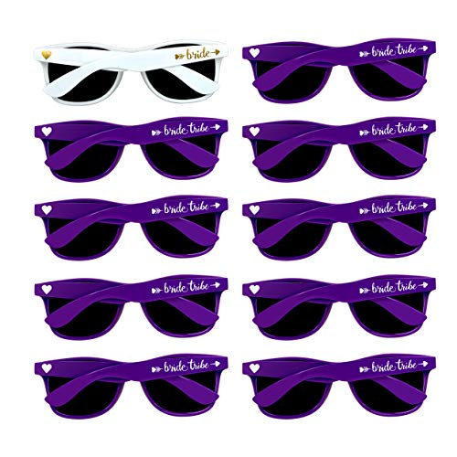 Bridal Shower Favors Bachelorette Party Supplies 10pcs Purple Weddings Sunglasses -