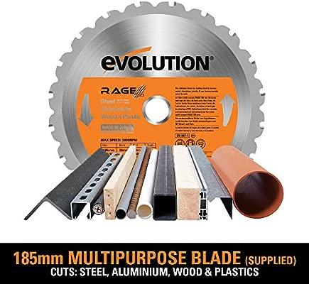 Evolution RAGE1-B Multi-Purpose Circular Saw 230V Multipurpose Cutting Tool Wood