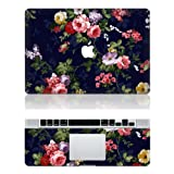 "Vati Leaves Removable Low-key Flower Protective Full Cover Vinyl Art Skin Decal Sticker Cover for Apple MacBook Pro Retina 13.3"" inch (A1425/A1502)"