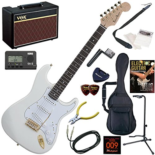 Photogenic エレキギター 初心者 入門 ストラトタイプ 人気のVOX Pathfinder10が入った本格14点セット STG-200/WH(ホワイト) B0050Y5KMY WH(ホワイト) WH(ホワイト)