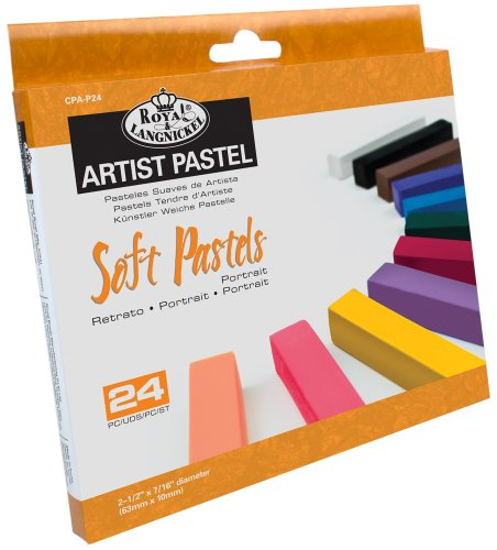 Royal Brush Soft Pastels 24-Pack Portrait by ROYAL BRUSH