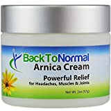 Back To Normal Arthritis and Joint Relief Cream, Arnica Cream, Less Painful Days, More Restful Nights, 2 oz.
