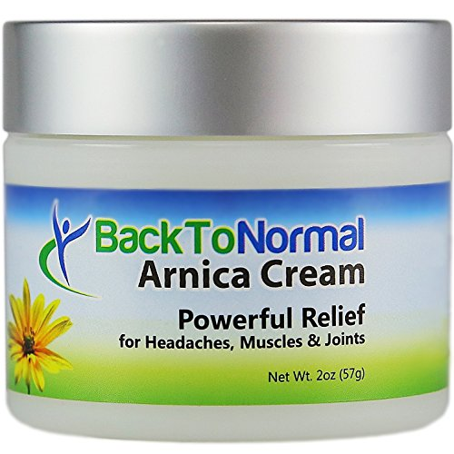Back To Normal Arthritis and Joint Relief Cream, Arnica Cream, Less Painful Days, More Restful Nights, 2 oz. (Headache Cream compare prices)