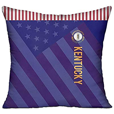 SARA NELL Velvet Throw Pillow Cases,American Kentucky Flag Design,Pillow Covers Decorative Pillowcase Cushion Covers Zipper 18x18 inches