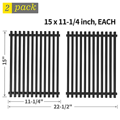 ill Grate Replacement for Weber Genesis Silver A, Spirit 500, Spirit S-200, E-210NG and Others, Porcelain Steel BBQ Cooking Grate Barbecue Grill Grid Replacement Parts(SS-KW010) ()