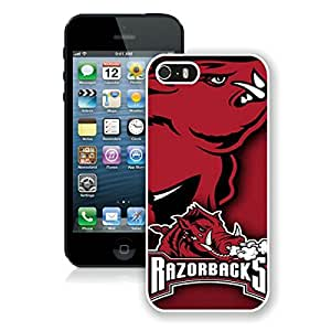 Beautiful Designed Case With Southeastern Conference SEC Football Arkansas Razorbacks 2 White For iPhone 5S Phone Case