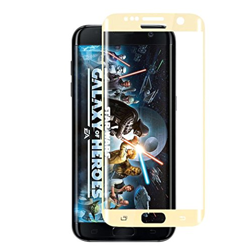 Price comparison product image ABC NEW For Samsung Galaxy S7 Edge Full Coverage Plating Tempered Glass Film Protector (Gold)