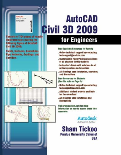 AutoCAD Civil 3D 2009 for Engineers ebook