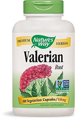 Nature's Way Valerian Root 530mg, 180 Capsules (Pack of 2)